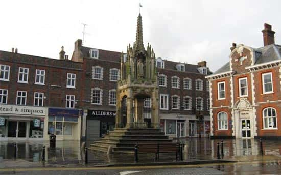 An image of the Market Square in Leighton Buzzard