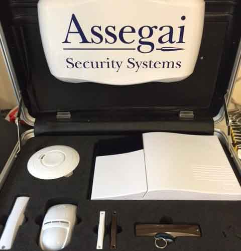 An image showing Assegai Security systems, and 24 monitoring equipment in Northampton