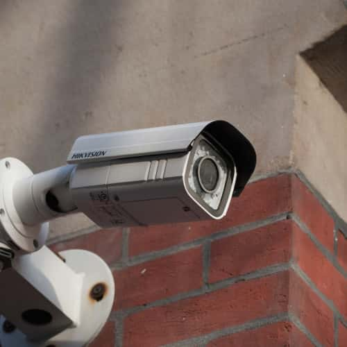 An image showing security systems on a wall in Bedford and Northampton