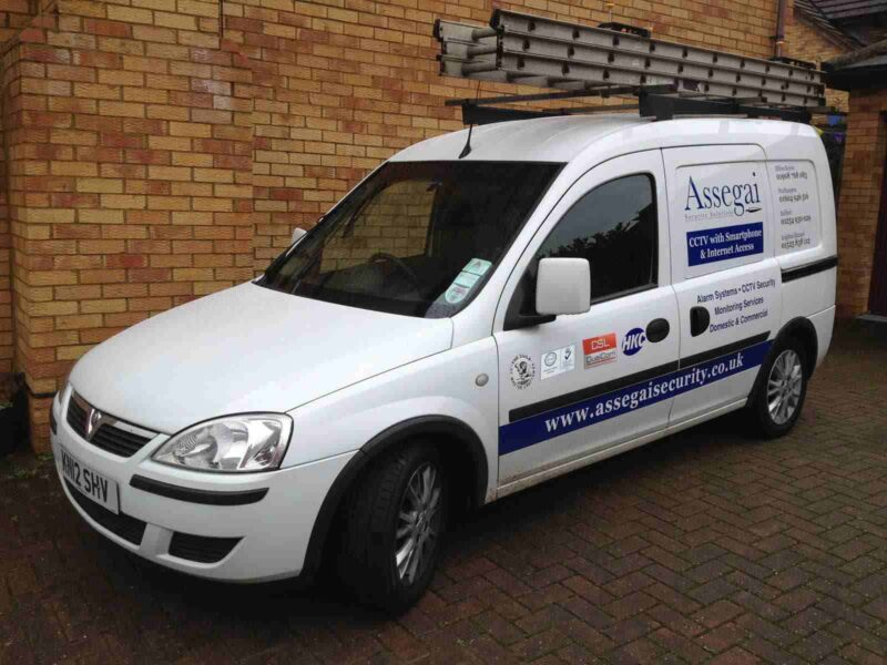 An image showing a white Assegai Security van in St Albans